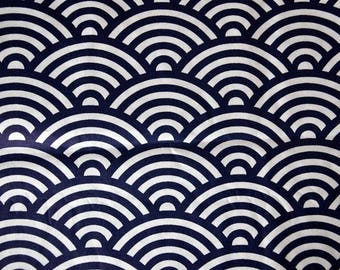 """WHITE cotton fabric and black pattern """"Graphic"""""""