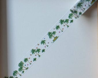 "Masking tape - pattern ""Palm"" - 1.5 cm x 10 m"