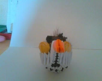 black and white Potpourri origami Swan