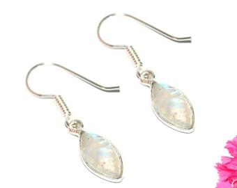 White Moonstone - 925 Sterling Silver earrings