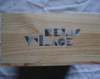 Wine wooden box - empty - REIMS VILLAGE - France