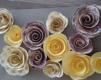 Flowers in home deco scrapbooking papers