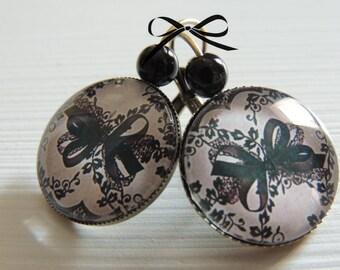 """Earrings sleeper""""lace chic"""" bronze metal"""