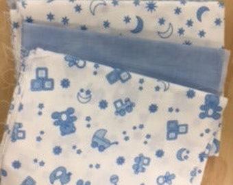 lot de 5 coupons de tissus pour patchwork