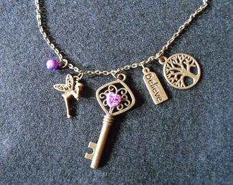 Fairy charm necklace
