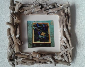 Large Driftwood frame and lace