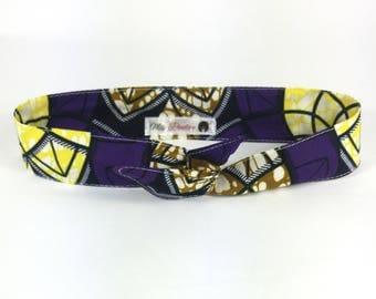 headband purple and yellow Wax