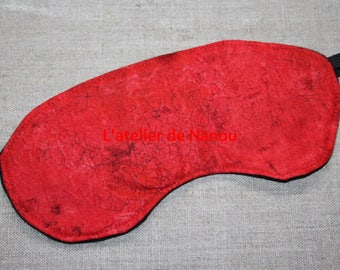 marbled red sleep mask