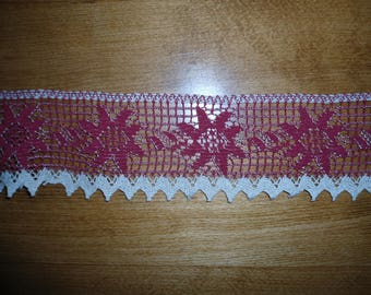 Lace linen and cotton Burgundy and beige