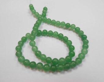 1 strand of 60 beads round 6 mm aventurine