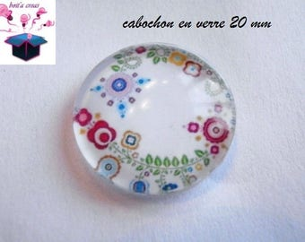 1 theme design 20mm domed glass cabochon