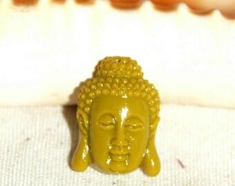Brand new 16mm Plastic Pearl mustard Buddha head