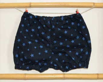 Bloomers baby 3 to the 24 months Blueberry blue stars