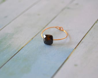 GOLD plated and black Zirconium ring