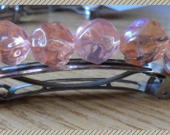 Pink Pearl spring silvery hair slides