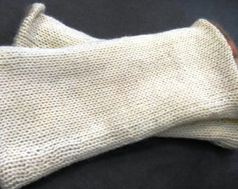 Pure wool Uni color lined mittens Jersey Vintage alpaca wool