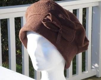 Comfortable women unique Brown winter beret Hat Cap