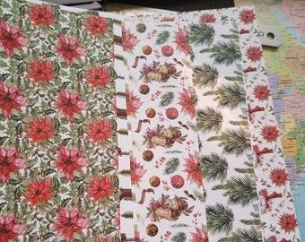 10 sheets of thick 10 Christmas paper sheets 21 x 15 cm, decor noel, noel creative hobbies