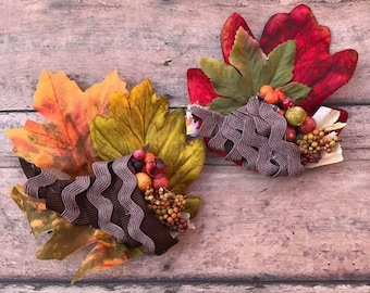 Cornucopia Thanksgiving Hair Bow