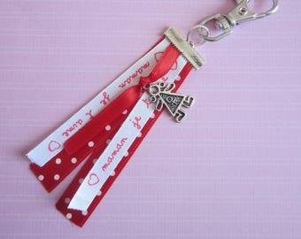 "Gift for MOM: door keys or bag charm ""MOM I love you"""