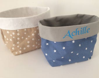 To order: Duo storage baskets, with name