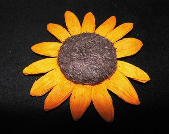 APPLIQUE flower sunflower 15 CM hobby