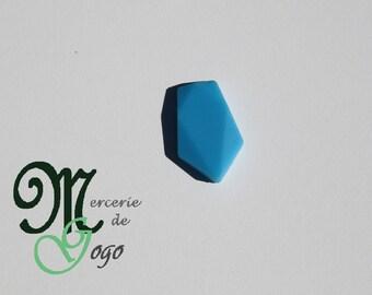Small blue arrow silicone flat bead.
