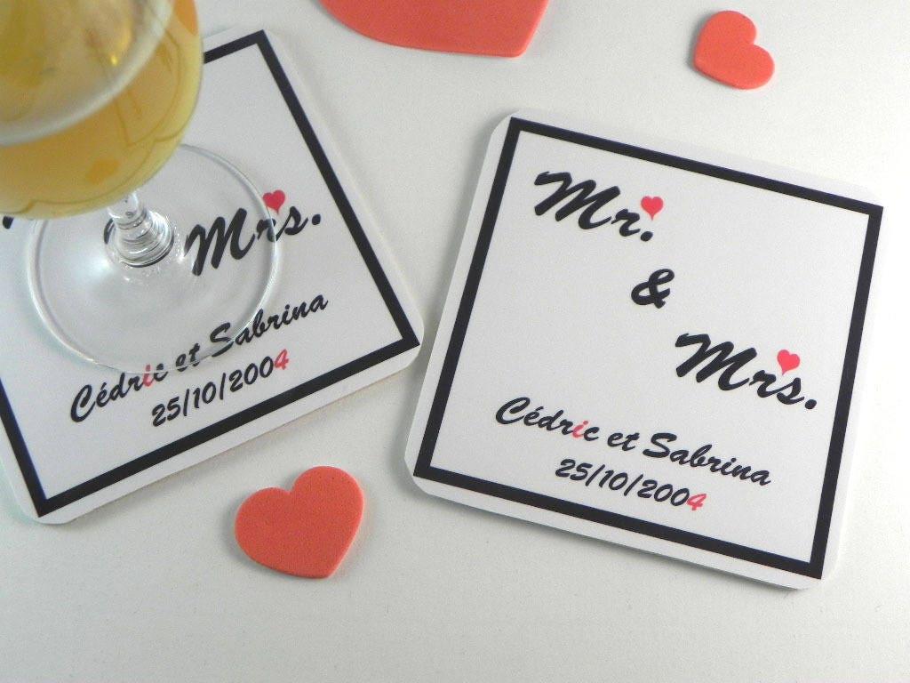 cadeau couple mariage st valentin mr mrs d coration de table. Black Bedroom Furniture Sets. Home Design Ideas