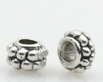20 antique silver metal spacer beads
