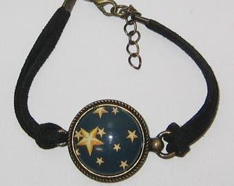 Bracelet jewel cabochon glass 20 mm * under the stars *.
