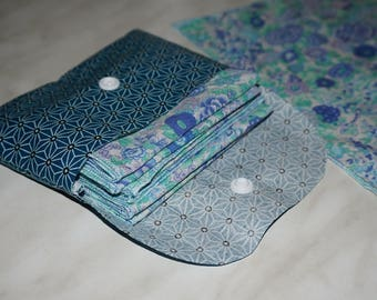 Double tissue case pocket for 4 to 6 handkerchiefs