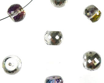 Glass crystal rondelle 12x8mm ± bead