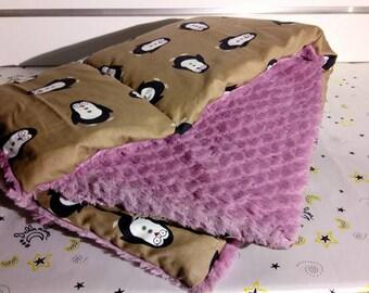 Penguin baby blanket