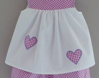 all 12 months cotton pique and Fuchsia gingham