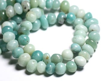 -Stone beads - Amazonite pebbles 4558550092823-6-12mm 10pc