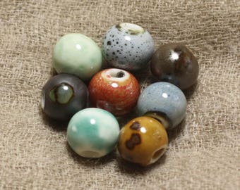 Set of 100pc choice - ceramic beads balls 10 mm 4558550037299
