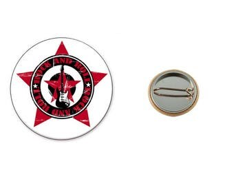 Rock And Roll - 25 mm button badge
