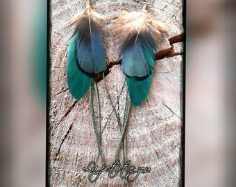 Earrings natural feathers