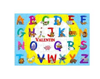 252 puzzle pieces alphabet personalized name choice ref 98