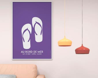 Poster Poster Tong purple