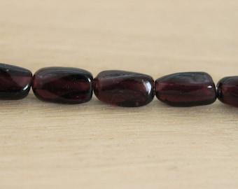 10 pearls 'baroque olive' / purple 10