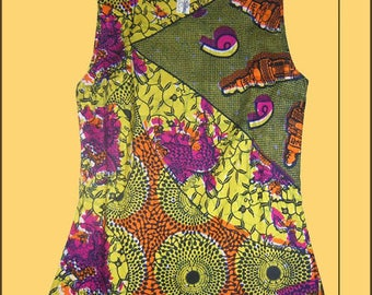 TOP fabric African wax cotton