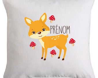 SMALL deer pillow personalized with text of your choice