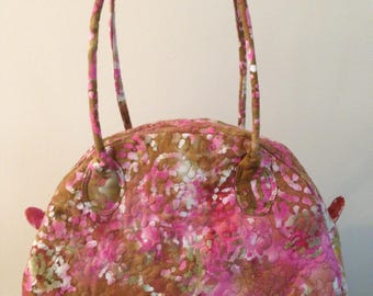 Pink Batik print handbag/travel bag