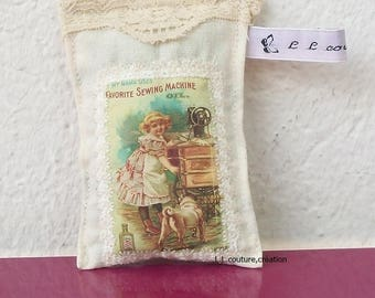 bag of lavender with a retro image