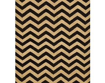 Chevron Hand-Woven Kilim Wool Geometric Rug