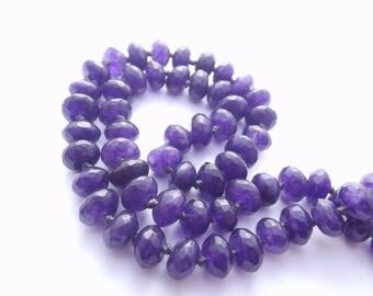 58 perles rondelles en agate teintée facettée 6x10 mm ANN-808