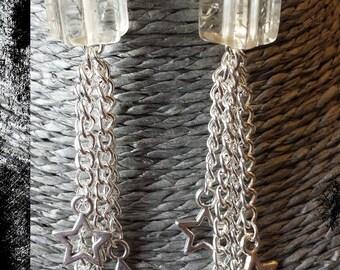 Hook earrings star and star shape resin beads
