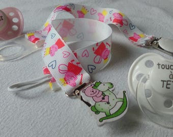 Sweet cotton Peppa Pig, set of 2 designs with adapter and elastic tie for baby