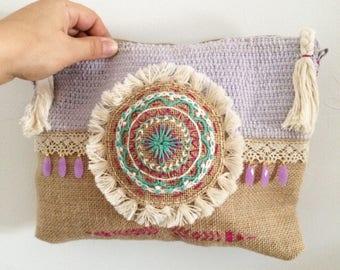 bag boho chic clutch, boho, chic ethnic bag, pouch ethnic chic, chic ethnic pouch bag, embroidered, embroidered pouch